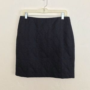 Banana Republic Blue & Black Textured Mini Skirt